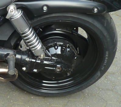 Triumph Rocket 3 Felgenverbreiterung Hinterrad made by Georg Deget